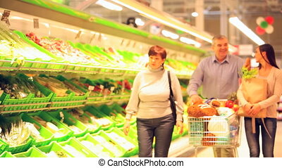 Family doing shopping