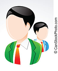 abstract glossy user icon vector illustration