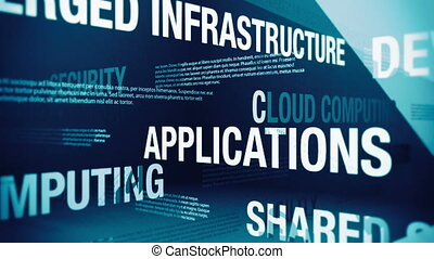 Cloud Computing Related Terms - Seamlessly looping animation...