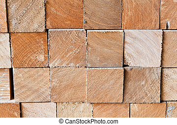 The section of square logs - The background image of section...