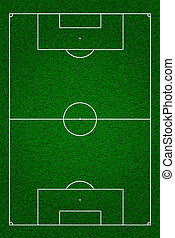 football field - Soccer or football field or pitch top view...
