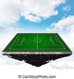 football field - island with a soccer field on the...