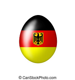 Egg with a German eagle - Easter egg with a German flag on a...
