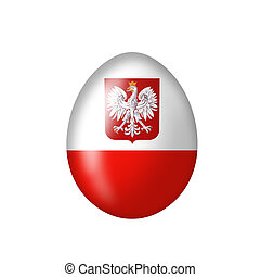 Egg with a Polish coat of arms