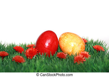 colored Easter Eggs - Beautiful decorations for the Easter
