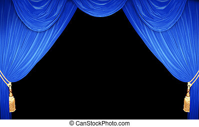 Blue stage set