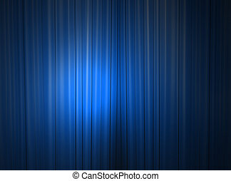 Blue curtain of a theater