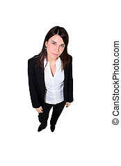 Confident woman in a trouser suit