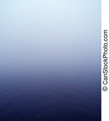 Water Landscape - Horizon over Water with fog