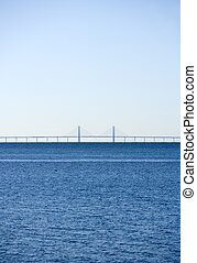Water Landscape - Horizon over Water on a sunny day with a...