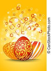 Easter Eggs with Ornament Decoration