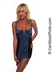 azul,  chemise