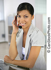 African call-center operative