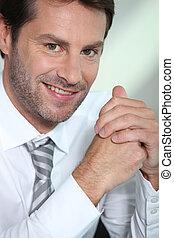 Close-up portrait of businessman