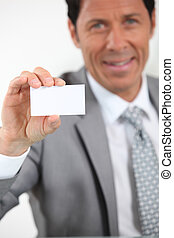executive giving business card