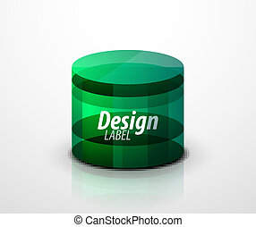 Glass cylinder icon. Vector eps10 object