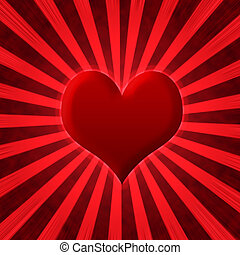Abstract heart starburst background