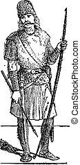 Slavic person vintage engraving - Old engraved illustration...
