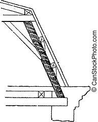 Strut (framework), vintage engraving. - Strut (framework),...