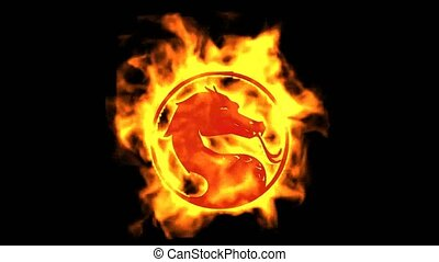 fire dragon symbol.
