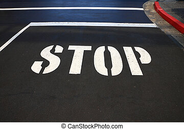Stop sign on the street.