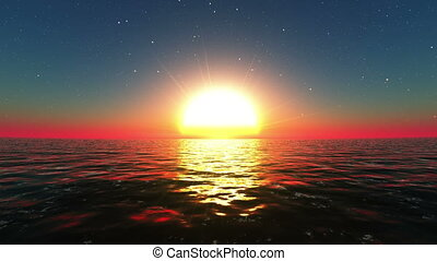 sun rise from horizon