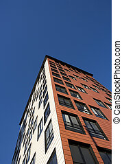 Building Exterior - Orange Building Exterior towards Blue...