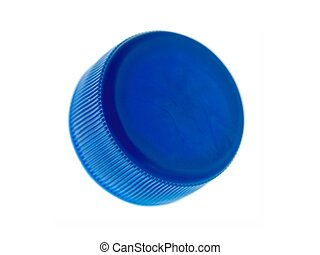 Plastic Bottle Caps - Plastic bottle caps isolated against a...