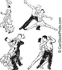 ballroom dancing - dancers - dancing couple, starndard...