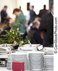 Catering equipment - catering equipment on table before...