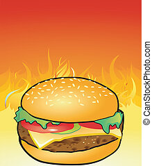 Hamburgers from the grill