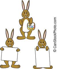 Three Easter Bunnies