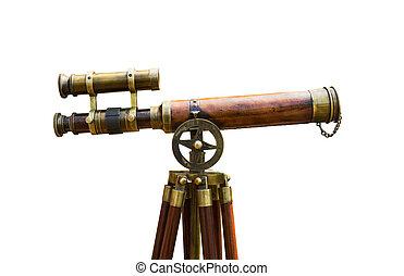 anticaglia, ottone, telescopio
