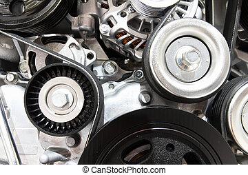 Close up of car engine