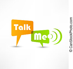 Talk me concept speech bubbles