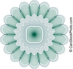 Guilloche Rosette - Vector Guilloche Rosette (all lines are...