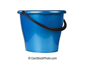 azul, balde, Limpeza