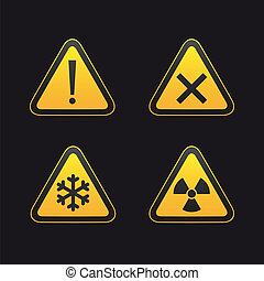 Set of Triangular Warning