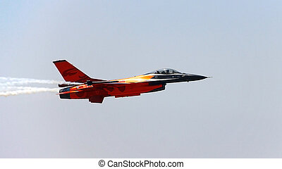 Fast fighter plane F16