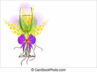 mimosa, giorno, donne