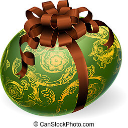 Chic Easter Egg With golden pattern