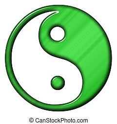Ying yang - jing jang symbol of harmony and balance
