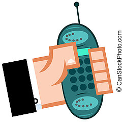 Business Hand With Cell Phone