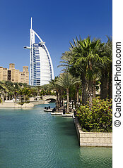 Burj Al Arab and Madina Jumeirah - View at hotel Burj al...