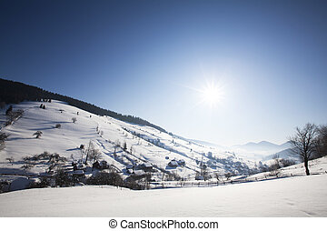 Carpathian mountains in winter