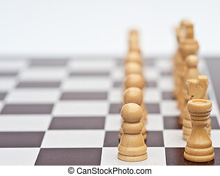 Chess game of strategy business concept application