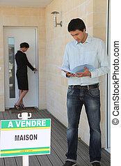 Man buying house