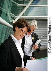 Senior businesswomen at the airport