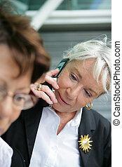 Elderly businesswomen have still got what it takes