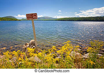 Public Water Supply - Sign for public water supply reservoir...